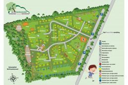 Plattegrond camping horstmannsbos 2021